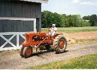 Father in law Gene on tractor