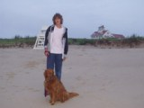 Michael and Ginger on Nauset Beach 2008