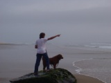 Michael and Ginger posing for Patti Nauset Beach 2008